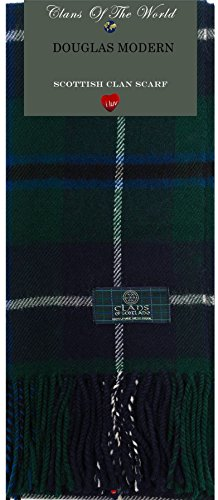 I Luv LTD Douglas Modern Tartan Clan Scarf 100% Soft Lambswool
