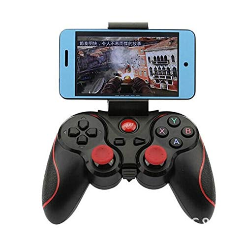 Gamepad Joystick Smartphone Game Controller Wireless Bluetooth Gamepad Joystick For Android Tablet PC TV BOX Handle Support (Color : Black, Size : One size)