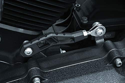 Kuryakyn 3571 Motorcycle Component: Riot Shift Linkage for 2006-17 Harley-Davidson Dyna Motorcycles with Mid Controls, Satin Black