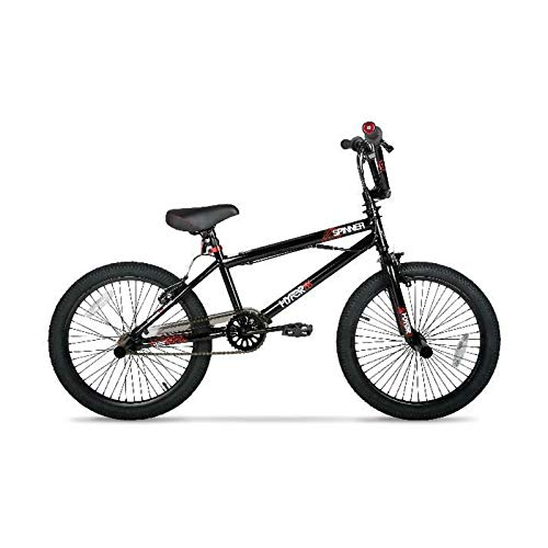 FZ-Kostum 20-Inch BMX Bike for Adults, Front Caliper and V-Brakes, High Carbon Steel, Gloss Black, Lightweight Compact Bicycle with Anti-Skid and Wear-Resistant Tire
