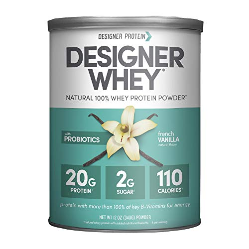 Designer Whey Protein Powder, French Vanilla, 12 Ounce, Non GMO
