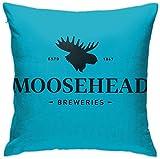 from Moosehead Logo Pillow Cases Printing Bolster Square Pillow Cases Fundas para Almohada 20x20Inch(50cmx50cm)