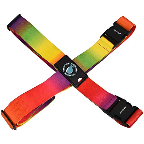 SFJRY Luggage Straps for Suitcases Adjustable Cross for Travel Airport, Extra Long 230 & 200 cm for Suitcase 20-32', Buckle Closure & Tag Slot
