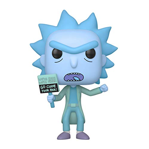 Funko- Pop Animation: Rick & Moty-Hologram Rick Clone