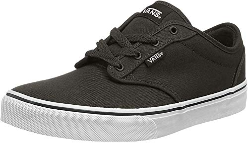 Vans Unisex-Kinder Atwood Low-Top, Schwarz ((Canvas) Blk/Wht 187), 33 EU