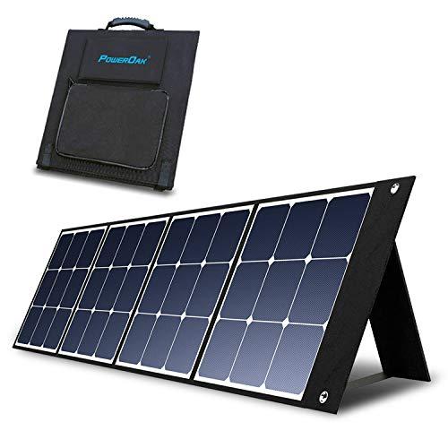 PowerOak BLUETTI SP120 Panel Solar Portátil 120W 23.7V Módulo Solar Fotovoltaico Plegable con Células Solares Monocristalinas para Carga el Generador Solar Portátil Generador Electrico Solar