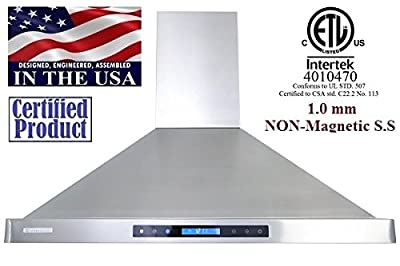 XtremeAir PX15 Wall Mount Range Hood with 900 CFM Baffle Filters/Grease Drain Tunnel