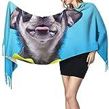 Bufanda de mantón Mujer Chales para, Hermoso perro Chihuahua Moda para mujer Mantón largo Invierno Cálido Bufanda grande Bufanda de cachemira