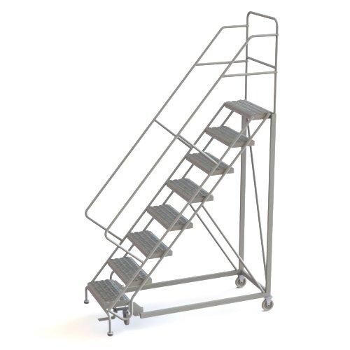 Tri-Arc UKDEC108242 U-Design Configurable 8-Step Forward Descent Incline Rolling Ladder with 24