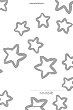 Notebook: Super Stars - One Subject Pattern Mat Cover, Composition Notebook 110 Wide Ruled Pages Journal