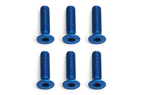 Team Associated Vis FT 3 x 12 mm FHCS, Aluminium Bleu.