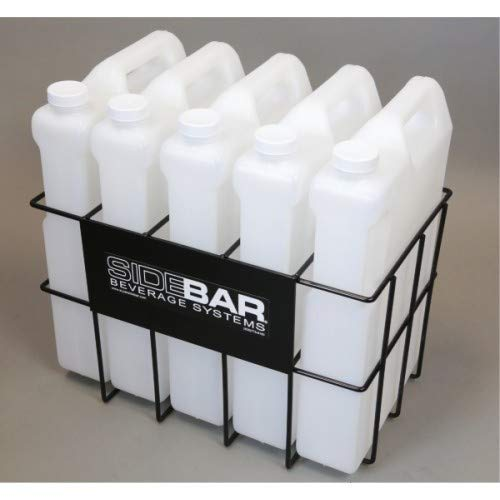 High Capacity Storage Rack with 5 Containers for SIDEBAR Liquor & Beverage Dispenser