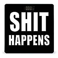 SHIT HAPPENS LCDディスプレイ付き高精度スマートフィットネススケール体重デジタルバスルームボディスケール