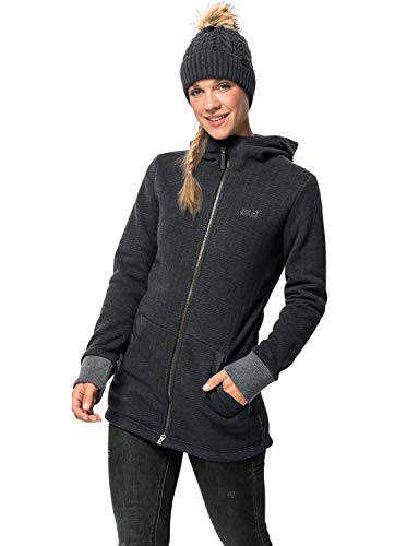 Jack Wolfskin Damen PATAN Long Jacket W Fleecejacke, Phantom, M