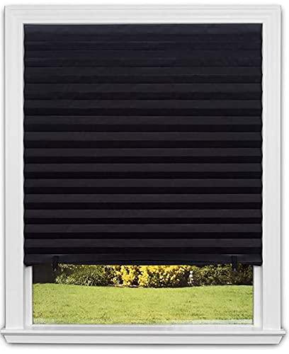 Store Occultant sans Perçage - Lot de 3 - S'ajuste à Toutes Dimensions de Fenêtre - Installation Simple et Rapide - Store Plissés en Papier Anti-UV