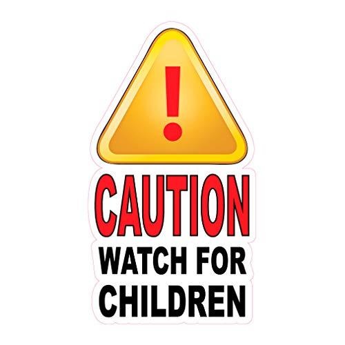 Food Truck Decals Caution Watch for Children Concession Restaurant Die-Cut Vinyl Sticker Oo Lifestyle Sign 24 in on Longest Side