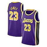 WANLN Lebron James #23 Camiseta de Baloncesto para Hombres - NBA Lakers Camiseta de...
