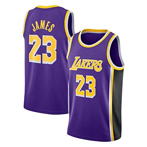 WANLN Lebron James #23 Camiseta de Baloncesto para Hombres - NBA Lakers Camiseta de Jugador de Básquetbol Bordado Transpirable y Resistente al Desgaste Camiseta de Fan de Hombres,Púrpura,S