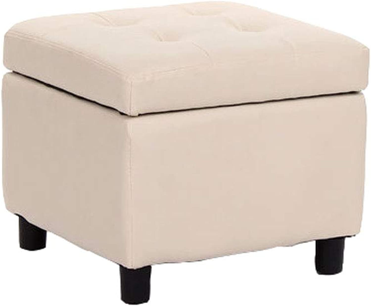 Living Room shoes Storage Stool Simple Bench Sofa Footrest shoes Stool (color   Beige)