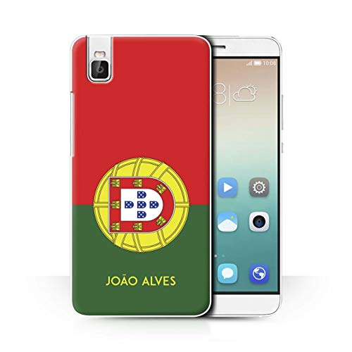 eSwish Personalisiert Persönlich National Nation Flagge 2 Hülle für Huawei Honor 7i/ShotX/Portugal/Portugiesisch Design/Initiale/Name/Text Schutzhülle/Hülle/Etui