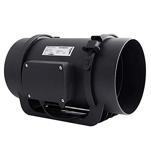 KSW_KKW Regulación de Velocidad Continua del Ventilador de Tubo Redondo Campana extractora de Cocina y baño Ventilador de ventilación, diámetro 159mm Tubo