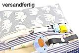 Wickeltasche Windeltasche mit Reißverschluss und vielen Fächern