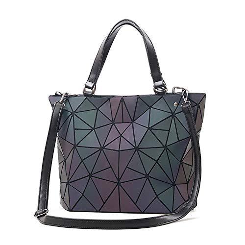 Geometric Fashion Women Backpack Luminous Handbags Holographic Bag Shoulder BagWomen Large Tote Bag