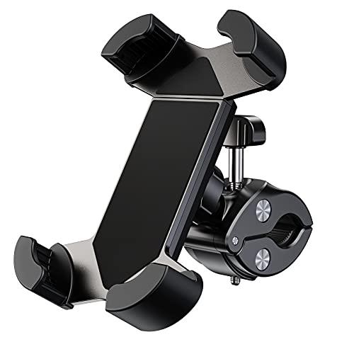 APMIEK Supporto Telefono Bicicletta, Metallico Supporto Motociclo, Anti Vibrazione con Rotazione a 360°Universale Porta Cellulare Bici per Tutti Gli Smartphone da 4,7-7 , per Manubrio 18-32mm