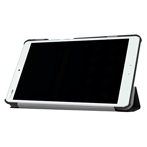 Hülle für Huawei MediaPad M3 8.4 Zoll Schutzhülle Etui Tablet Tasche Smart Cover (Schwarz) - 2