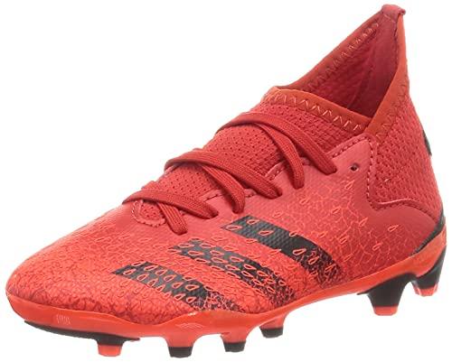 adidas Predator Freak .3 MG J, Zapatillas Deportivas, Rojo/NEGBÁS/Rojsol, 34 EU