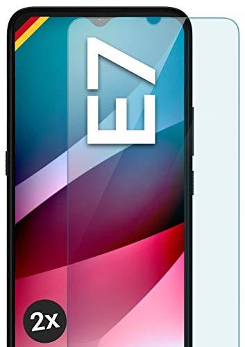 moex Panzerglas kompatibel mit Motorola Moto E7 - Schutzfolie aus Glas, bruchsichere Bildschirmschutz Folie, Crystal Clear Panzerglasfolie, 2X Stück