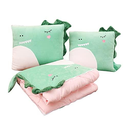 Dibujos animados animal almohada doble propósito almohada almohada almohada hogar almohada almohada por oficina siesta almohada por coche verano fresco edredón manta