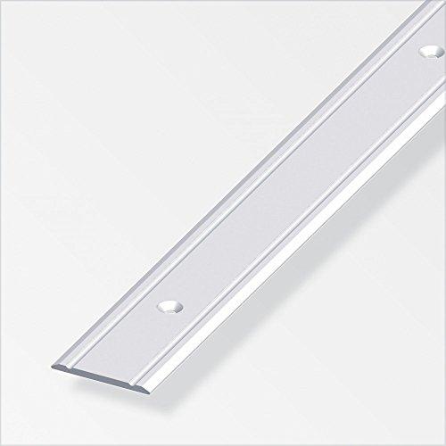 Übergangsprofil superflach/gelocht; 30mm/100cm Alu eloxiert silber
