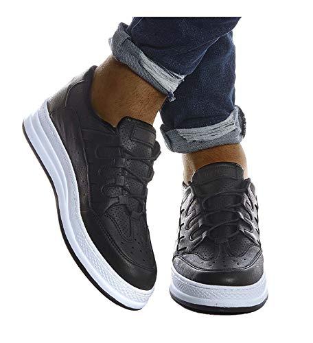 Leif Nelson Herren Schuhe für Freizeit Sport Freizeitschuhe Männer weiße Sneaker Sommer Coole Elegante Sommerschuhe Sportschuhe Weiße Schuhe für Jungen Winterschuhe Halbschuhe LN201;42, Schwarz