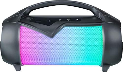 Bigben Interactive Party Lite Lautsprecher mit Lichteffekten, resistent gegen Spritzwasser, Schwarz