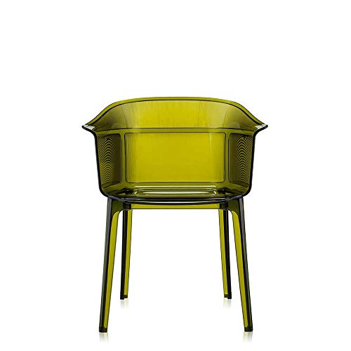 Kartell Set 2 Papyrus Transparent Olive Green Armchair