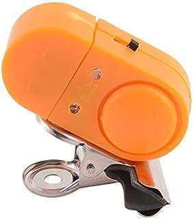 eDealMax Pesca plástico varilla de alarma de ladrón de luz LED Bite Alerta pescado Campana Clip