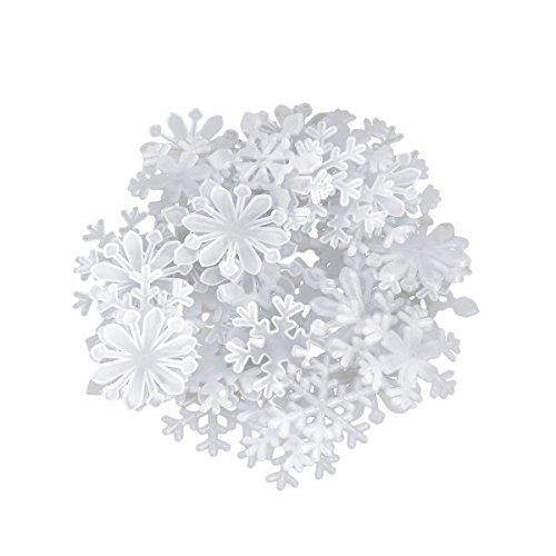 BESTOYARD 50 Stücke Luminous Snowflake wandaufkleber Weihnachten wandaufkleber Fenster klammert Weihnachten wohnkultur Hintergrund Dekoration (Weiß)