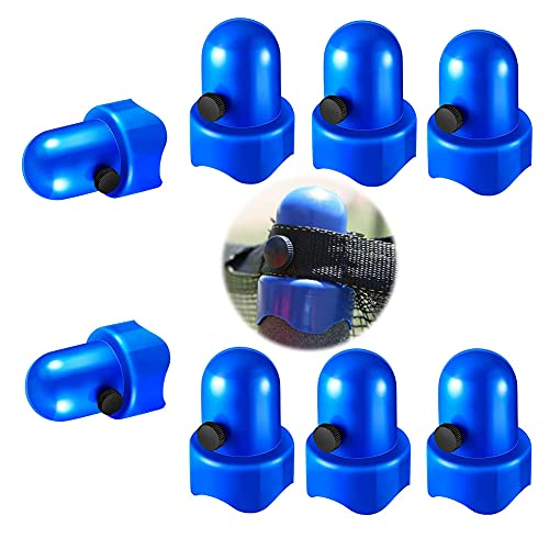 """Synoratory 1.5""""Diameter Trampoline Enclosure Pole Caps with Screw Thumb for Trampoline Net Hook, 8 Pieces Safety Trampoline Pole Caps Blue"""