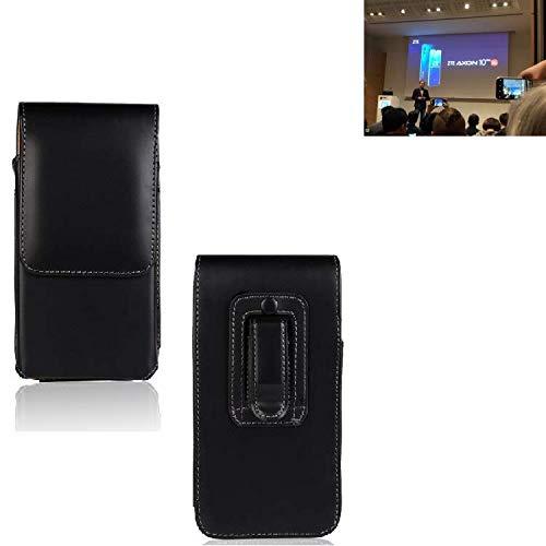 Für ZTE Axon 10 Pro 5G Holster Gürtel Tasche Gürteltasche Schutzhülle Handy Tasche Schutz Hülle Handytasche Smartphone Hülle Seitentasche Vertikaltasche Etui Belt Bag Schwarz Für ZTE Axon 10 Pro