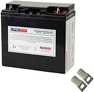 12V 18Ah Nut & Bolt SLA Replacement Battery for Lobster Elite 2 Tennis Ball Machine (F2 Adapters Included)