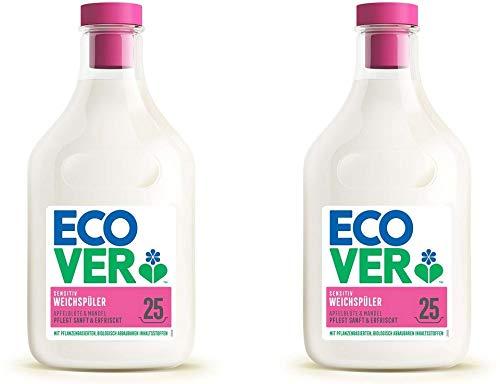 Ecover Weichspüler Apfelblüte & Mandel, Ökologische Premiumqualität seit 1979, 2 x 750ml