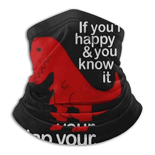 Funny Sad Red Dinosaur Face Mask Dust Wind Neck Gaiter Bandana Headwear Face Scarf