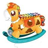 Tastak Educación para la Primera Infancia Ocho Tonos para Tocar el Piano Música Caballo de Troya Qin Instrumento de percusión Pony Tocando el Piano Juguetes Musicales para bebés para niños