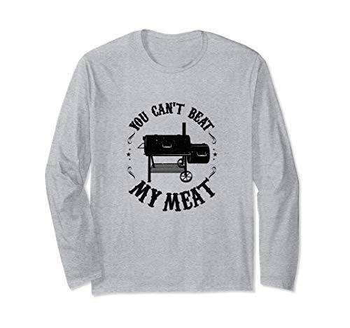 Funny BBQ Pit Reverse Flow Smoker Accessory Dad Grill Gift Langarmshirt