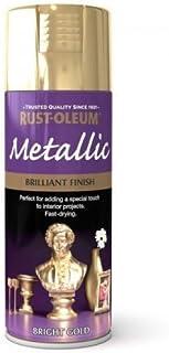 Rust-Oleum Multi-Purpose Aerosol Spray Paint 400ml Brilliant Finish Bright Metallic Gold (1 pack)