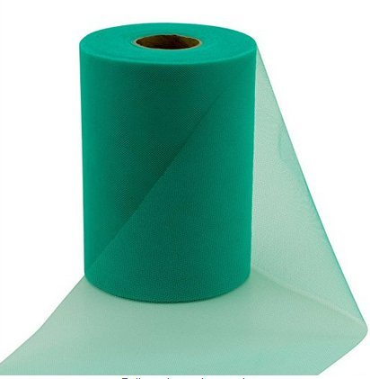 ASIBT 6 Inch x 100 Yards Tulle Roll Spool Fabric Table Runner Chair Sash Bow Tutu Skirt Sewing Crafting Fabric Wedding Party Gift Ribbon (Army Green)