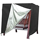 """Large Patio Swing Cover 3 Seat Glider Cover Garden Waterproof Heavy Duty Hammock Cover Durable Outdoor Furniture Protector Anti-UV Replacement Canopy & Chair Cover,3 Triple (87"""" x 60"""" x 72"""") -  AZC Living"""