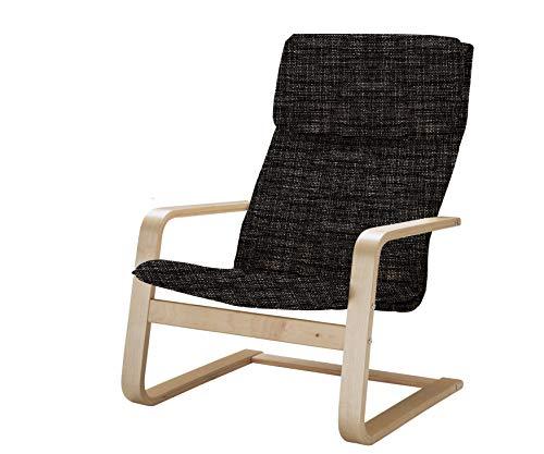 Vinylla Ersatzbezug für Sessel, kompatibel mit IKEA Pello (Tetron Cotton – schwarz)