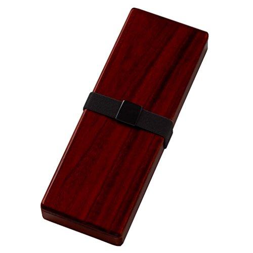 あかしや 大人の書道具 硯箱 越前塗 ローズ 携帯用 ギフトボックス仕様 小 AR-6500